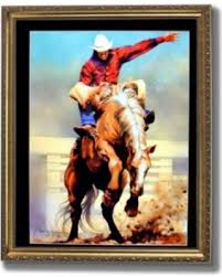 rodeo cowboy bareback rider western wall picture gold framed art print on framed western wall art with surprise 62 off rodeo cowboy bareback rider western wall picture