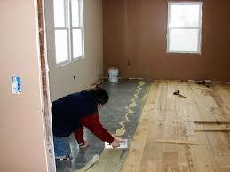 my new wood floor is in i glue down floors