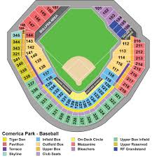 Comerica Park Seating Chart By Rows Detailed Seating Chart For Pnc Park Comerica Park Eminem