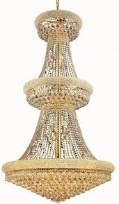 elegant lighting 1800g36g rc primo 32 light crystal chandelier in gold with royal cut crystal clear