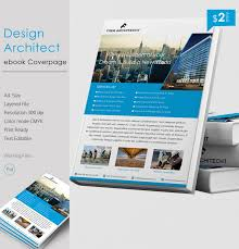 rich design architect a4 ebook cover page template