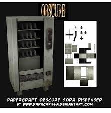 Papercraft Vending Machine Awesome Ninjatoes' Papercraft Weblog Papercraft ObScure Soda Dispenser Machine