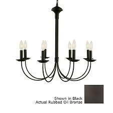portfolio new century 8 light black chandelier