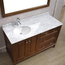 offset bathroom vanity tops lily 55 classic cherry natural carrera