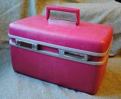 samsonite pink train case luge key royal traveller make up vine suitcase ebay