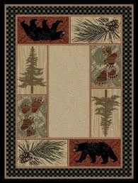 great rustic area rugs rustic cabin lodge area rugs cabin place