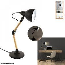 Stoere Lamp Zwart Hout