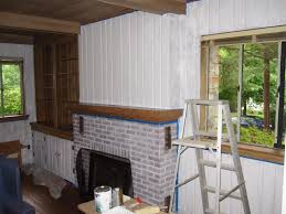 painting knotty pine lion 39 den how to paint wood paneling