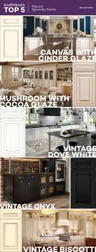 KraftMaid's variety of specialty paint finishes adds unique detailing to  ordinary painted cabinets. These KraftMaid kitchens feature five of our most  ...