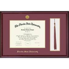 florida state university x classic diploma and tassel frame  framing success florida state university 11x14 classic diploma and tassel frame