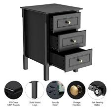 wooden side table nightstand console