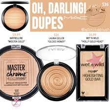 <b>MAC Oh, Darling</b>! Extra Dimension Skinfinish Highlighter Dupes - All ...