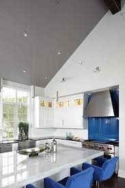 kitchen track lighting contemporary with stainless farm sink black pendant  lights