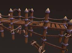 Wooden Bridge Game Rope Bridge by Kazusan Environment and Prop Models Pinterest 51