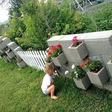 concrete block garden building a garden wall concrete block planters concrete block garden wall designs building