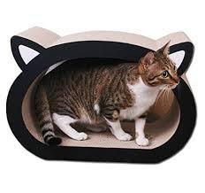 cat scratcher lounge. Cat-headed Shape Ultimate Cat Scratcher Lounge R