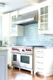 light blue tile kitchen tiles glazed design ideas glass backsplash white cabinets