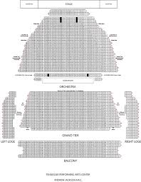 Ryman Seating Chart With Seat Numbers Andrew Jackson Hall Detailed View Tpac