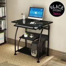 Tables for home office Rustic Home Office Computer Desk Pc Corner Laptop Table Workstation Furniture Black Sadtks Furniture And Bedding Office Desks Tables Ebay