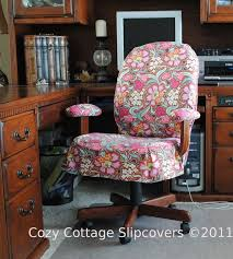 adorable slip covers for your office chair by cozy cottage good for me because i have the perfect chair which happens to be pleather and ing