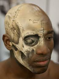 exposed skull makeup ideas looks to me like the makeup artists are truly experts except demons don t look like that