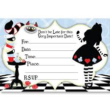 Birthday Invitations Free Download Stunning Download Now Alice In Wonderland Birthday Invitations Bagvania