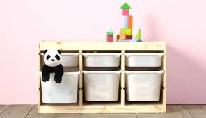 white wooden toy storage unit series boxes lids combinations