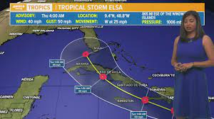 Tropical Storm Elsa forms, first cone ...