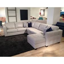 canadian made top grain leather sectional