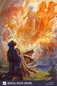 elijah in the bible. Beautiful The Elisha Sees Elijah Whirled To Heaven In Fiery Chariot Painting By Henry  Coller Bible Story 1953 For The