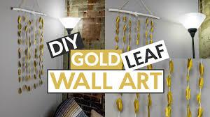 gold leaf wall art diy