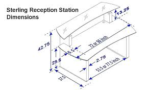 typical desk height reception desk height dimensions full size of home typical reception desk height home