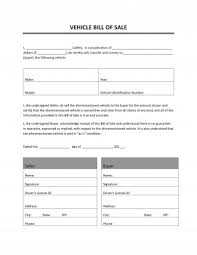 Bill Of Sale For Car New Vehicle Sale Letter Format Pdf Valid Sales Agreement Word Ozilmanoof