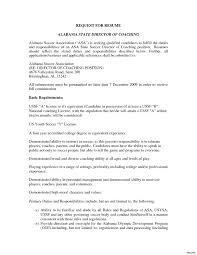 Coaching Resume Template Free For Download College Basketball Coach