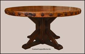 copper dining table tops. round copper top dining table: copper table top 60 inch diameter with 2.5 side dining tops e