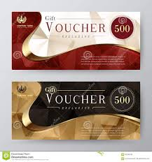 Gift Voucher Template Promotion Card Coupon Design Stock
