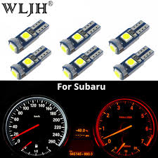 Wljh 6x Canbus T5 Led Lamp 73 74 3030 Smd Bulb Instrument Panel Lights For Subaru Brz Legacy Tribeca Outback Forester Impreza