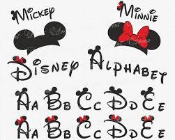 Disney Font Disney Alphabet Svg Disney Font Svg Ears Svg Minnie Font Mickey Font Font Svg Disney Cricut Disney Cricut Font Silhouette Clipart