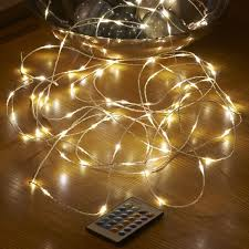 micro led string lights mains powered remote controlled 10m