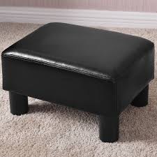 2019 small ottoman footrest pu leather footstool rectangular seat stool black from hongxinlin21 28 14 dhgate com