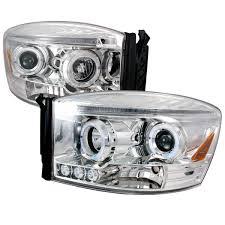 Halo Lights For 2006 Dodge Ram Spec D Tuning 2lhp Ram06 Tm Dodge Ram Halo Led Projector Chrome 2006 2008