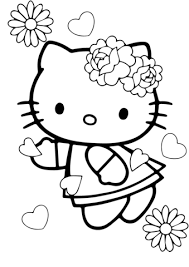 Valentine S Day Hello Kitty Coloring Page Free Printable Coloring