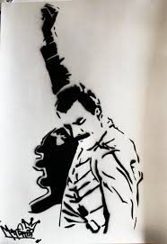 freddie mercury stencil - Google Search