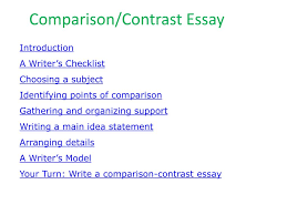 Comparison And Contrast Essays Ppt Comparison Contrast Essay Powerpoint Presentation Id