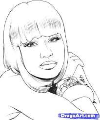 Nicki Minaj Coloring Printable Images Enjoy Coloring Judy Martin