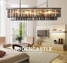 living room restaurant bar cafe rectangular crystal chandelier lighting 6690