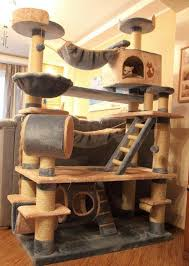 Wooden Cat House Pet Furniture Kitty's Home Condo Japanese Cedar Tree