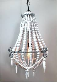 aged wood beaded chandelier image of aged wood beaded chandelier shades of light aged wood beaded