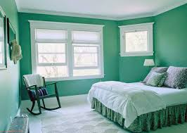 What Color To Paint A Bedroom Cozy Darkturquoise Wall Painting That Combine With Pure White