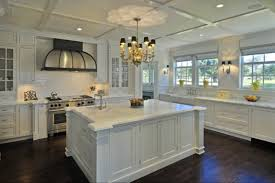image of amazing white kitchen cabinets with tile floor